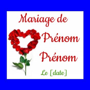 etiquette mariage cadeau fleur coeur rouge