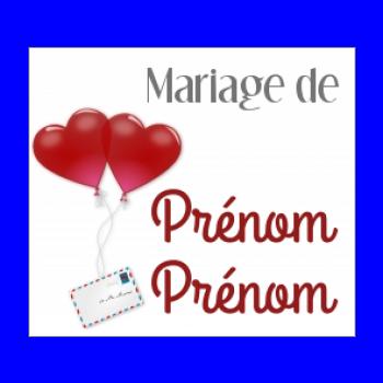 etiquette mariage cadeau coeur lettre rouge