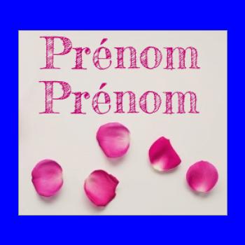 etiquette mariage cadeau fleur rose mauve