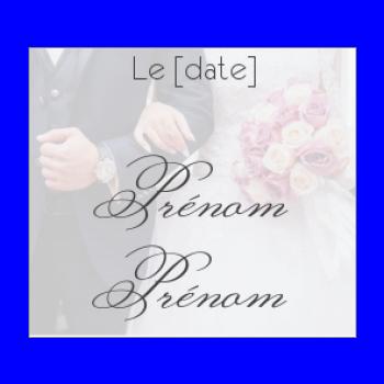 etiquette mariage cadeau fleur