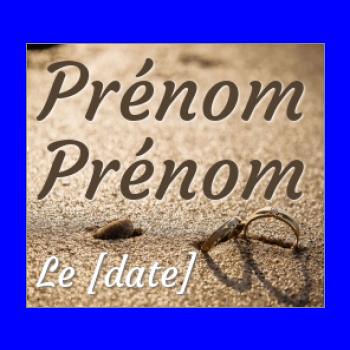 etiquette mariage cadeau anneau plage marron