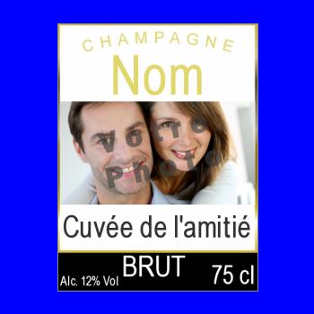 etiquette bouteille champagne jaune noir alcool