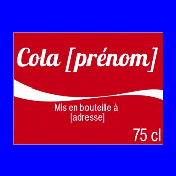 etiquette bouteille coca rouge