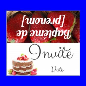etiquette bapteme table fruit gateau chocolat fraise
