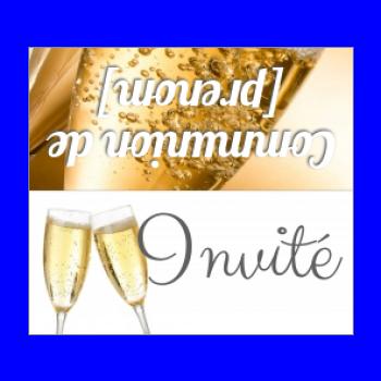 etiquette champagne table communion jaune