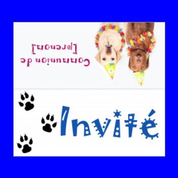 etiquette table communion chien animaux