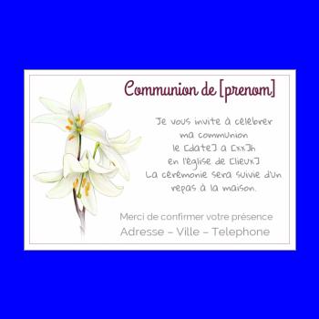 Telecharger Faire Part Invitation Communion Gratuite
