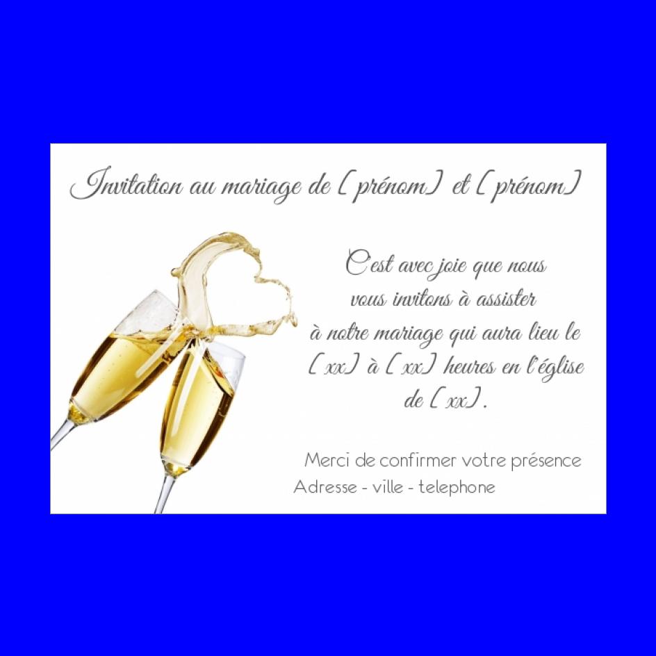 Invitation Faire Part Mariage Champagne Coeur Gratuit A Imprimer Carte 2822