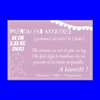 Faire Part De Naissance Original A Imprimer Gratuit