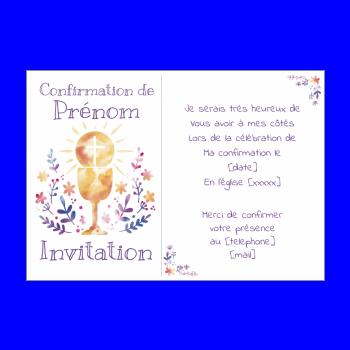Faire Part De Confirmation Gratuit A Imprimer Ou Envoyer Par E Mail