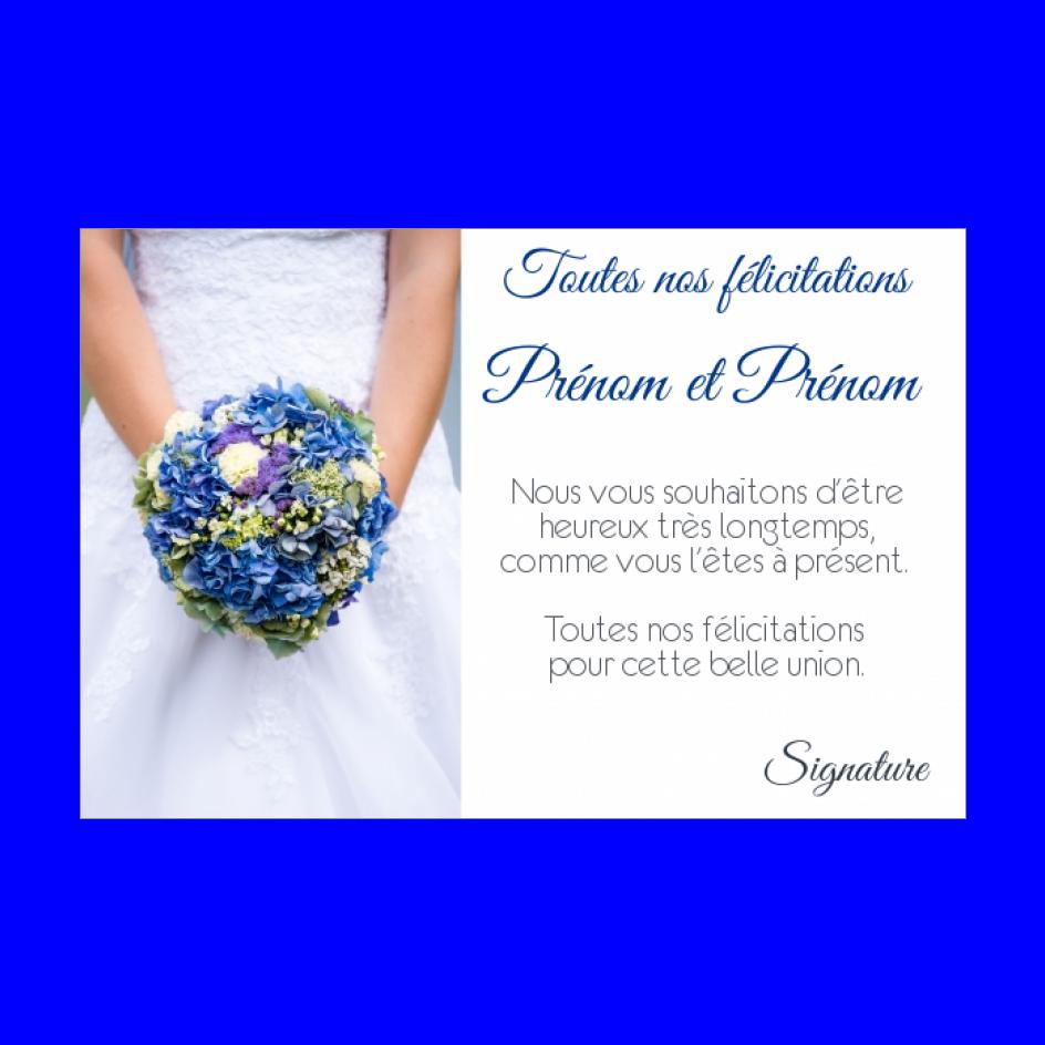 Carte Felicitation Mariage Fleur Bleu Blanc Gratuit A Imprimer Carte 493