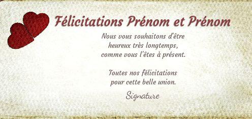 carte heureux mariage à imprimer gratuitement Carte Felicitation Mariage Coeur Rouge Marron gratuit à imprimer