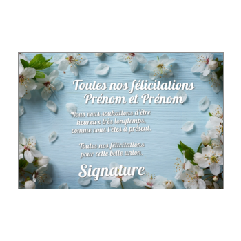 Carte De Felicitation Pour Un Mariage A Imprimer Gratuit