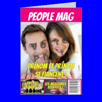 carte invitation faire part magazine journal fiancailles humour