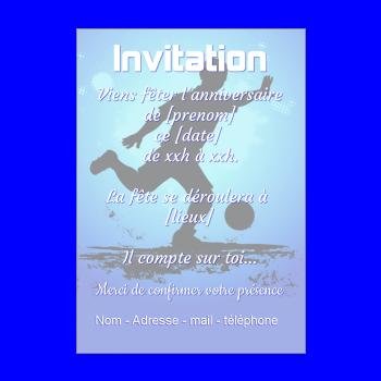 carte invitation anniversaire football enfant sport garcon