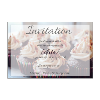 carte invitation anniversaire gateau chocolat marron