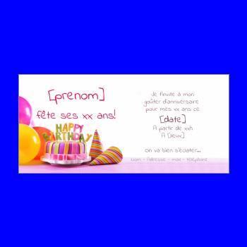 Carte D Invitation Pour Un Anniversaire D Enfants A Imprimer Gratuit