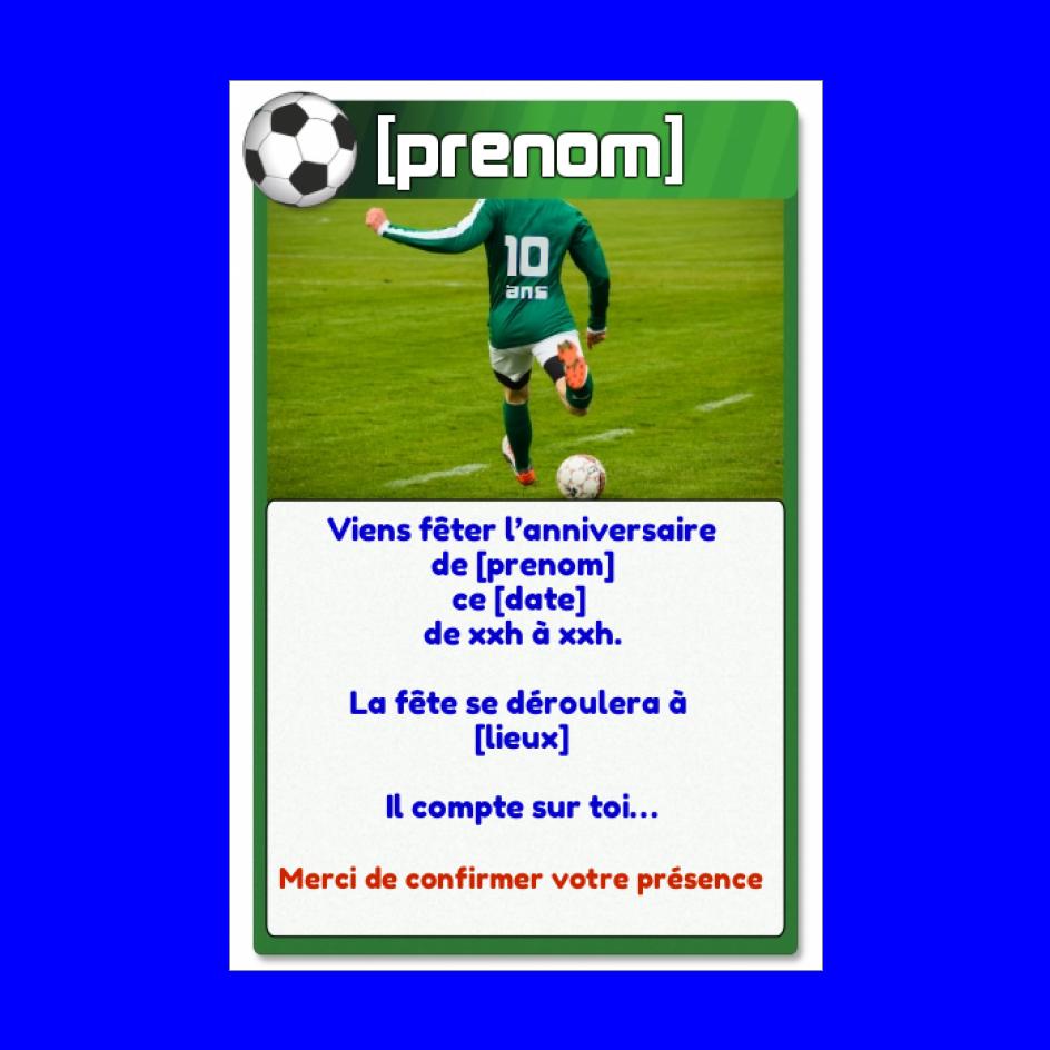 Carte Invitation Anniversaire 10 Ans Football Gratuit A Imprimer Carte 2383