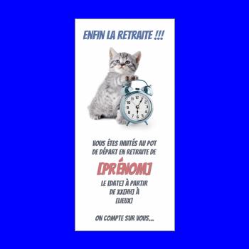 Invitation Pour Un Pot De Départ à La Retraite à Imprimer
