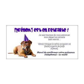 Invitation Pour Une Fête De Départ En Retraite à Imprimer Gratuit