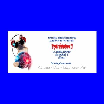 Invitation Pour Une Fête De Départ En Retraite à Imprimer