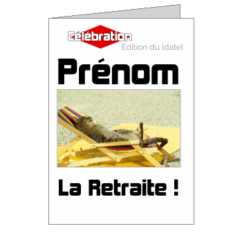 carte invitation retraite magazine journal fete chat humour animaux