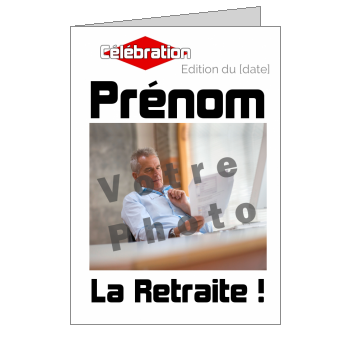 carte invitation retraite magazine journal fete blanc