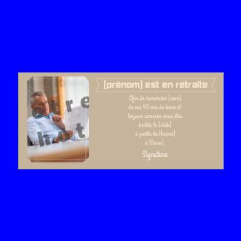 carte invitation retraite marron