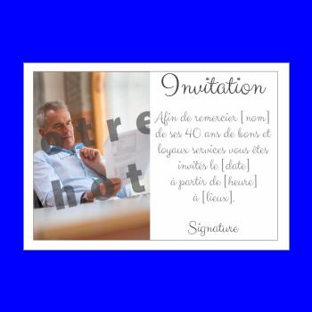 carte invitation retraite blanc