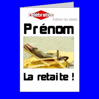 carte invitation retraite magazine journal blanc