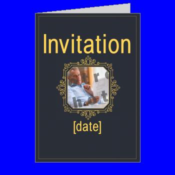 carte invitation retraite orange gris elegant