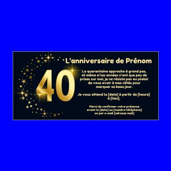 Invitation D Anniversaire 40 Ans Gratuit A Imprimer Ou Envoyer Par Carte Virtuelle
