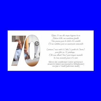 Invitation D Anniversaire 70 Ans Gratuit A Imprimer Ou Envoyer Par Carte Virtuelle