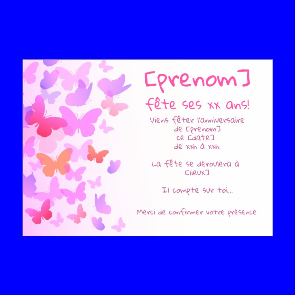 Carte Invitation Anniversaire Enfant Rose Fille Gratuit A Imprimer Carte 3095