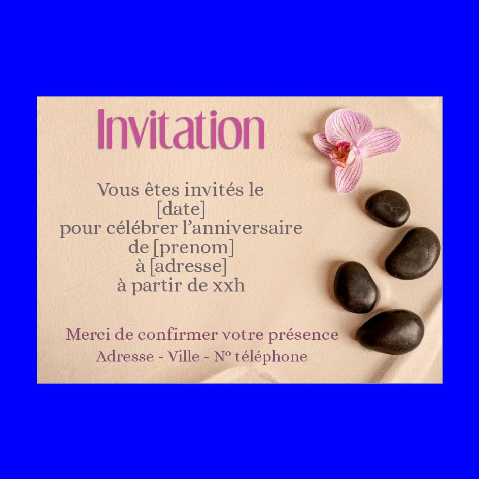 Carte Invitation Anniversaire Fleur Plage Zen Gratuit A Imprimer Carte 3378
