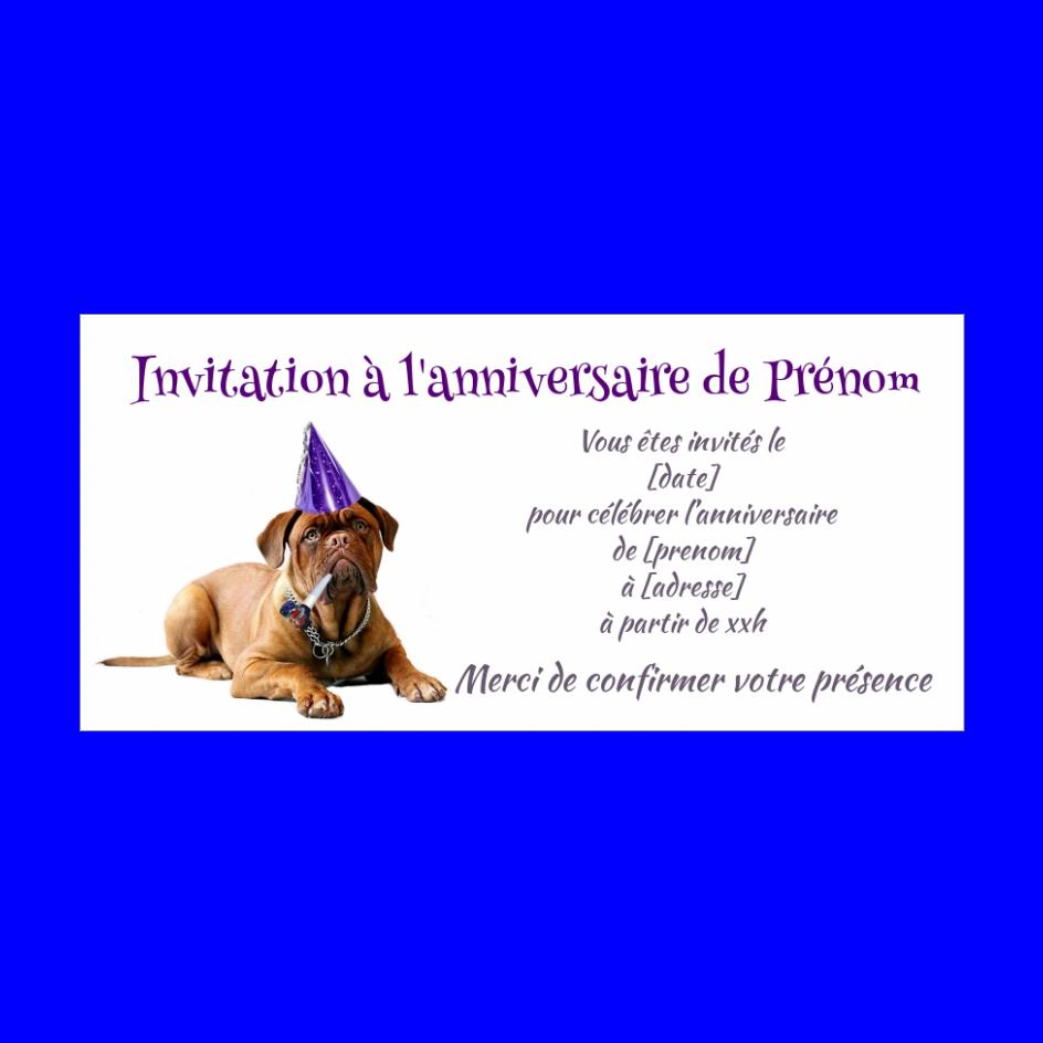 Carte Invitation Anniversaire Humour Chien Mauve Gratuit A Imprimer Carte 2238