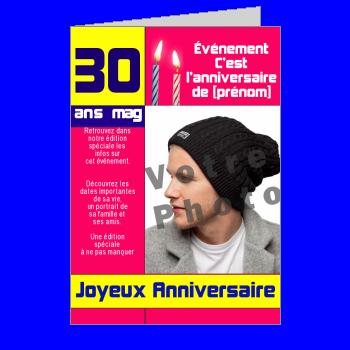 carte anniversaire joyeux magazine journal humour