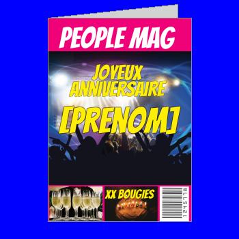 carte anniversaire joyeux magazine journal fete humour