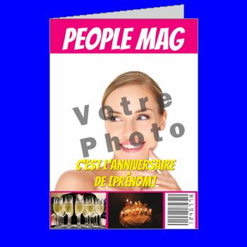 carte anniversaire joyeux magazine journal humour rose