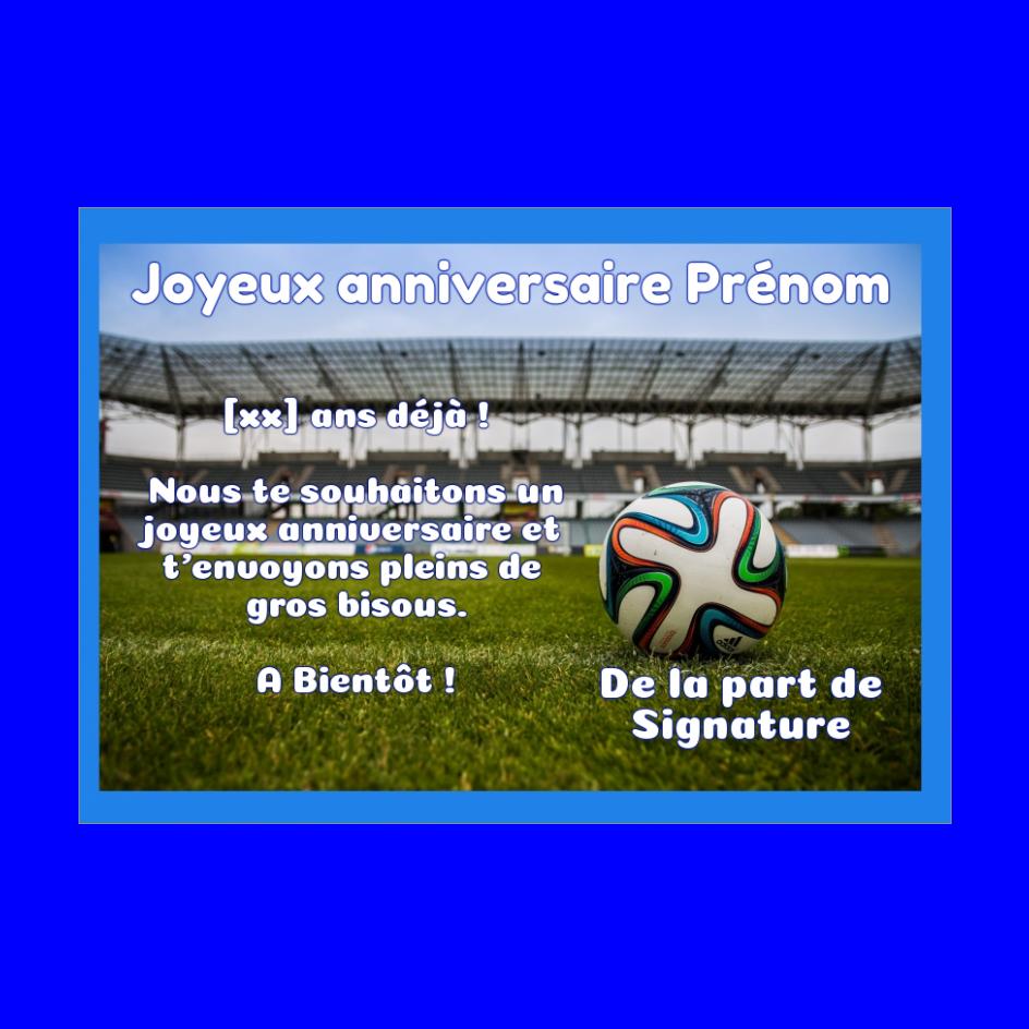 Carte Joyeux Anniversaire Football Enfant Sport Gratuit A Imprimer Carte 215