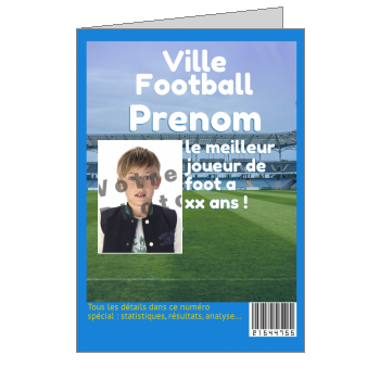 carte anniversaire joyeux magazine football sport ballon
