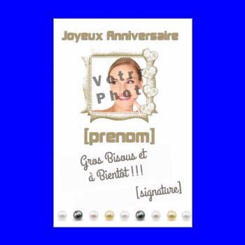 carte anniversaire joyeux marron blanc
