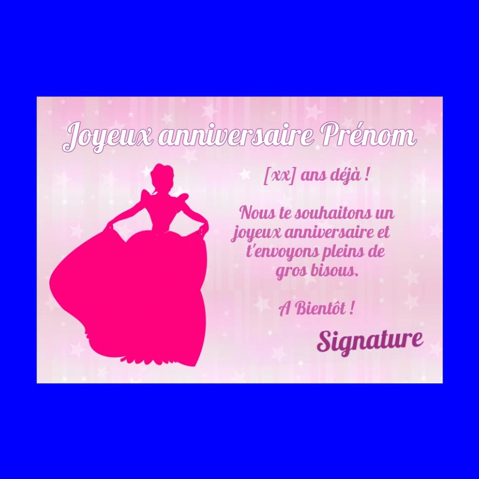 Carte Joyeux Anniversaire Princesse Enfant Rose Gratuit A Imprimer Carte 197