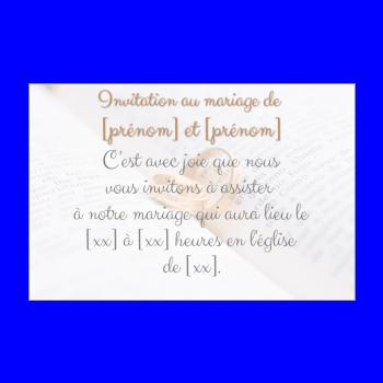 invitation faire part mariage anneau blanc livre