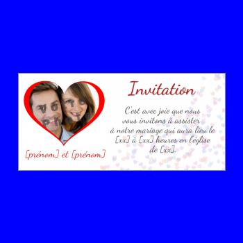 invitation faire part mariage coeur rouge