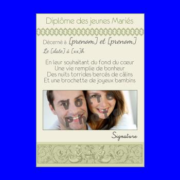 diplome mariage vert