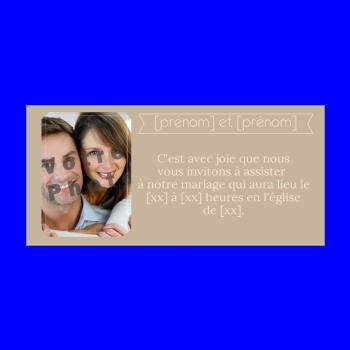 Populaire Faire part de mariage à imprimer gratuit VT43