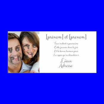 carte invitation mariage repas blanc