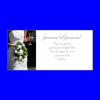 carte invitation mariage repas fleur blanc