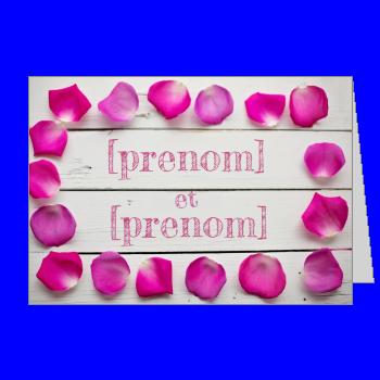 invitation faire part mariage fleur rose bois mauve
